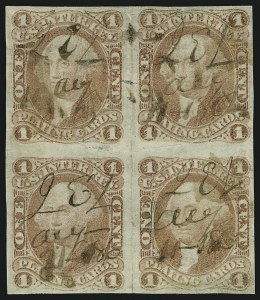 Sale Number 1089, Lot Number 319, First Issue Blocks and Record-Size Multiples, Imperforate, 1c-60c1c Playing Cards, Imperforate (R2a), 1c Playing Cards, Imperforate (R2a)