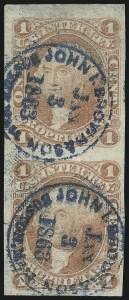 Sale Number 1089, Lot Number 320, First Issue Blocks and Record-Size Multiples, Imperforate, 1c-60c1c Proprietary, Imperforate (R3a), 1c Proprietary, Imperforate (R3a)
