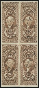 Sale Number 1089, Lot Number 336, First Issue Blocks and Record-Size Multiples, Imperforate, 1c-60c25 Bond, Imperforate (R43a), 25 Bond, Imperforate (R43a)