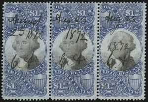 Sale Number 1089, Lot Number 500, Second Issue Blocks and Largest Recorded Multiples$1.30 Blue & Black, Second Issue (R119), $1.30 Blue & Black, Second Issue (R119)