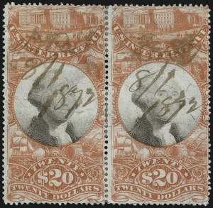 Sale Number 1089, Lot Number 522, Third Issue$20.00 Vermilion & Black, Third Issue (R150a), $20.00 Vermilion & Black, Third Issue (R150a)
