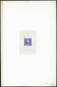 Sale Number 1090, Lot Number 1024, Essays & Proofs, 1847 Issue thru 20th Century6c Ultramarine, Large Die Proof on India (115P1), 6c Ultramarine, Large Die Proof on India (115P1)