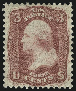 Sale Number 1090, Lot Number 1189, 1861-66 Issue (Scott 56-78)3c Brown Rose, First Design (56), 3c Brown Rose, First Design (56)