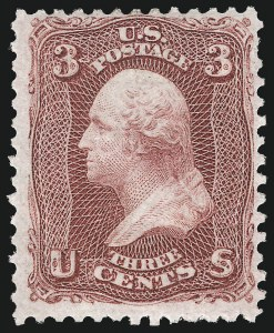 Sale Number 1090, Lot Number 1196, 1861-66 Issue (Scott 56-78)3c Lake (66), 3c Lake (66)