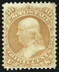 Sale Number 1090, Lot Number 1203, 1861-66 Issue (Scott 56-78)30c Orange (71), 30c Orange (71)