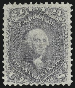 Sale Number 1090, Lot Number 1213, 1861-66 Issue (Scott 56-78)24c Grayish Lilac (78a), 24c Grayish Lilac (78a)
