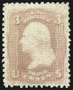 Sale Number 1090, Lot Number 1215, 1867-68 Grilled Issue (Scott 79-101)3c Rose, A. Grill (79), 3c Rose, A. Grill (79)