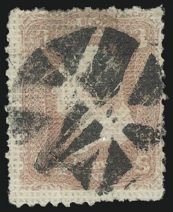 Sale Number 1090, Lot Number 1216, 1867-68 Grilled Issue (Scott 79-101)3c Rose, A. Grill (79), 3c Rose, A. Grill (79)