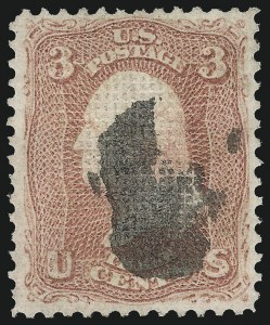 Sale Number 1090, Lot Number 1217, 1867-68 Grilled Issue (Scott 79-101)3c Rose, C. Grill (83), 3c Rose, C. Grill (83)