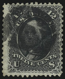 Sale Number 1090, Lot Number 1218, 1867-68 Grilled Issue (Scott 79-101)12c Black, Z. Grill (85E), 12c Black, Z. Grill (85E)