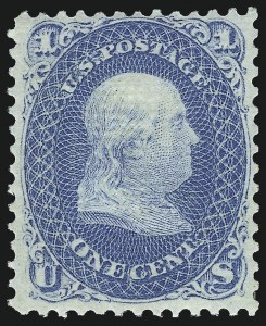 Sale Number 1090, Lot Number 1219, 1867-68 Grilled Issue (Scott 79-101)1c Blue, E. Grill (86), 1c Blue, E. Grill (86)