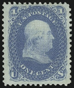 Sale Number 1090, Lot Number 1220, 1867-68 Grilled Issue (Scott 79-101)1c Blue, E. Grill (86), 1c Blue, E. Grill (86)