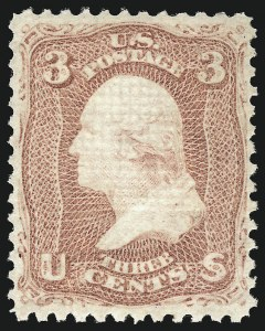 Sale Number 1090, Lot Number 1222, 1867-68 Grilled Issue (Scott 79-101)3c Rose, E. Grill (88), 3c Rose, E. Grill (88)