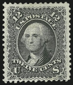 Sale Number 1090, Lot Number 1224, 1867-68 Grilled Issue (Scott 79-101)12c Black, E. Grill (90), 12c Black, E. Grill (90)