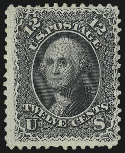 Sale Number 1090, Lot Number 1225, 1867-68 Grilled Issue (Scott 79-101)12c Black, E. Grill (90), 12c Black, E. Grill (90)
