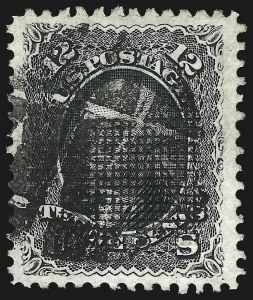 Sale Number 1090, Lot Number 1226, 1867-68 Grilled Issue (Scott 79-101)12c Black, E. Grill (90), 12c Black, E. Grill (90)