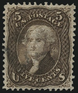 Sale Number 1090, Lot Number 1231, 1867-68 Grilled Issue (Scott 79-101)5c Brown, F. Grill (95), 5c Brown, F. Grill (95)