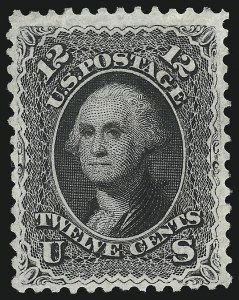 Sale Number 1090, Lot Number 1233, 1867-68 Grilled Issue (Scott 79-101)12c Black, F. Grill (97), 12c Black, F. Grill (97)