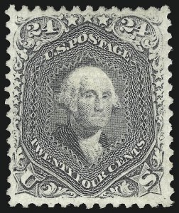 Sale Number 1090, Lot Number 1237, 1867-68 Grilled Issue (Scott 79-101)24c Gray Lilac, F. Grill (99), 24c Gray Lilac, F. Grill (99)