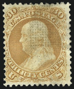 Sale Number 1090, Lot Number 1238, 1867-68 Grilled Issue (Scott 79-101)30c Orange, F. Grill (100), 30c Orange, F. Grill (100)