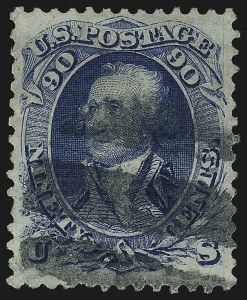 Sale Number 1090, Lot Number 1240, 1867-68 Grilled Issue (Scott 79-101)90c Blue, F. Grill (101), 90c Blue, F. Grill (101)