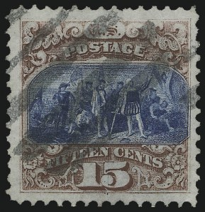 Sale Number 1090, Lot Number 1276, 1869 Pictorial Issue (Scott 112-122)15c Brown & Blue, Ty. I (118), 15c Brown & Blue, Ty. I (118)