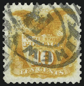 Sale Number 1090, Lot Number 1290, 1875 Re-Issue of 1869 Pictorial Issue (Scott 123-133)10c Yellow, Re-Issue (127), 10c Yellow, Re-Issue (127)