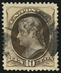 Sale Number 1090, Lot Number 1347, 1873-83 Continental & American Bank Note Co. Issues (Scott 156-218)10c Brown, With Secret Mark (188), 10c Brown, With Secret Mark (188)