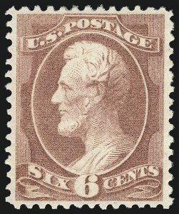 Sale Number 1090, Lot Number 1356, 1873-83 Continental & American Bank Note Co. Issues (Scott 156-218)6c Deep Brown Red (208a), 6c Deep Brown Red (208a)