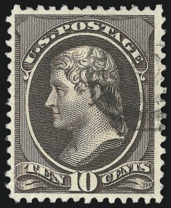 Sale Number 1090, Lot Number 1360, 1873-83 Continental & American Bank Note Co. Issues (Scott 156-218)10c Black Brown (209b), 10c Black Brown (209b)