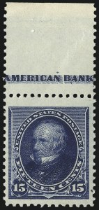 Sale Number 1090, Lot Number 1377, 1890-93 Issue (Scott 219-229)15c Indigo (227), 15c Indigo (227)