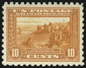 Sale Number 1090, Lot Number 1495, 1913-15 Panama-Pacific Issue (Scott 397-404)10c Panama-Pacific, Perf 10 (404), 10c Panama-Pacific, Perf 10 (404)