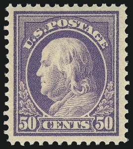 Sale Number 1090, Lot Number 1504, 1912-15 Washington-Franklin Issues (Scott 405-461)50c Violet (422), 50c Violet (422)