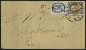 Sale Number 1090, Lot Number 1933, Carriers, Locals & Independent MailsBrown & McGill's U.S.P.O. Despatch, Louisville Ky., (2c) Blue (5LB2), Brown & McGill's U.S.P.O. Despatch, Louisville Ky., (2c) Blue (5LB2)