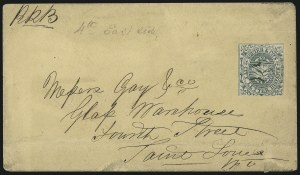Sale Number 1090, Lot Number 1958, Carriers, Locals & Independent MailsSquier & Co. City Letter Dispatch, St. Louis Mo., 1c Green, Imperforate (132L1), Squier & Co. City Letter Dispatch, St. Louis Mo., 1c Green, Imperforate (132L1)