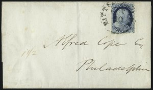 Sale Number 1090, Lot Number 2131, 1851-57 Issues (Scott 7-38)1c Blue, Ty. IV (23), 1c Blue, Ty. IV (23)