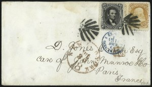 Sale Number 1090, Lot Number 2235, 1867-68 Grilled Issue (Scott 79-100)15c Black, E. Grill (91), 15c Black, E. Grill (91)