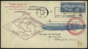 Sale Number 1090, Lot Number 2290, Flight and Air Post Covers$1.30 and $2.60 Graf Zeppelin (C14, C15), $1.30 and $2.60 Graf Zeppelin (C14, C15)