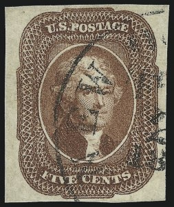 Sale Number 1092, Lot Number 1013, 1851 Issue (Scott 7-17)5c Red Brown (12), 5c Red Brown (12)