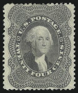Sale Number 1092, Lot Number 1038, 1857-60 Issue and 1875 Reprint of 1857 Issue (Scott 18-47)24c Gray Lilac (37), 24c Gray Lilac (37)