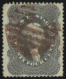 Sale Number 1092, Lot Number 1040, 1857-60 Issue and 1875 Reprint of 1857 Issue (Scott 18-47)24c Gray Lilac (37), 24c Gray Lilac (37)
