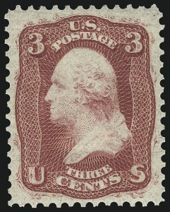 Sale Number 1092, Lot Number 1049, 1861-66, 1867-68 Grilled and 1875 Re-Issues (Scott 56-111)3c Brown Rose, First Design (56). Mint N.H, 3c Brown Rose, First Design (56). Mint N.H