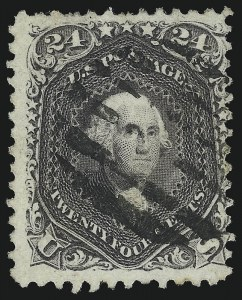 Sale Number 1092, Lot Number 1066, 1861-66, 1867-68 Grilled and 1875 Re-Issues (Scott 56-111)24c Blackish Violet (78c), 24c Blackish Violet (78c)