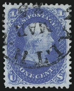Sale Number 1092, Lot Number 1071, 1861-66, 1867-68 Grilled and 1875 Re-Issues (Scott 56-111)1c Blue, F. Grill, Thin Paper (92 var), 1c Blue, F. Grill, Thin Paper (92 var)