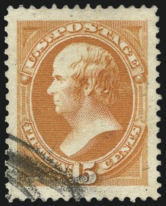Sale Number 1092, Lot Number 1141, 1879-87 American Bank Note Co. Issues (Scott 182-218)15c Red Orange (189), 15c Red Orange (189)