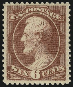 Sale Number 1092, Lot Number 1144, 1879-87 American Bank Note Co. Issues (Scott 182-218)6c Deep Brown Red (208a), 6c Deep Brown Red (208a)
