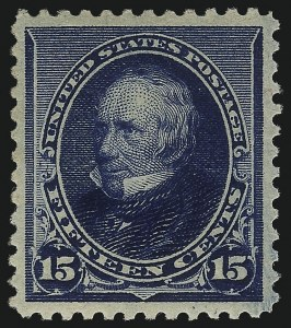 Sale Number 1092, Lot Number 1165, 1890-93 Small Bank Note Issue (Scott 219-229)15c Indigo (227), 15c Indigo (227)
