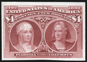 Sale Number 1092, Lot Number 1180, 1893 Columbian Issue (Scott 230-245)$1.00, $2.00, $4.00 Columbian, Plate Proofs on India (241P3, 242P3, 244P3), $1.00, $2.00, $4.00 Columbian, Plate Proofs on India (241P3, 242P3, 244P3)