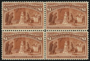 Sale Number 1092, Lot Number 1182, 1893 Columbian Issue (Scott 230-245)$1.00 Columbian (241), $1.00 Columbian (241)