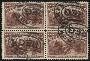 Sale Number 1092, Lot Number 1186, 1893 Columbian Issue (Scott 230-245)$2.00 Columbian (242), $2.00 Columbian (242)